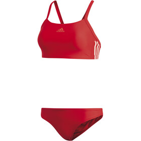 adidas Essence Core 3-Stripes Bikini Women red